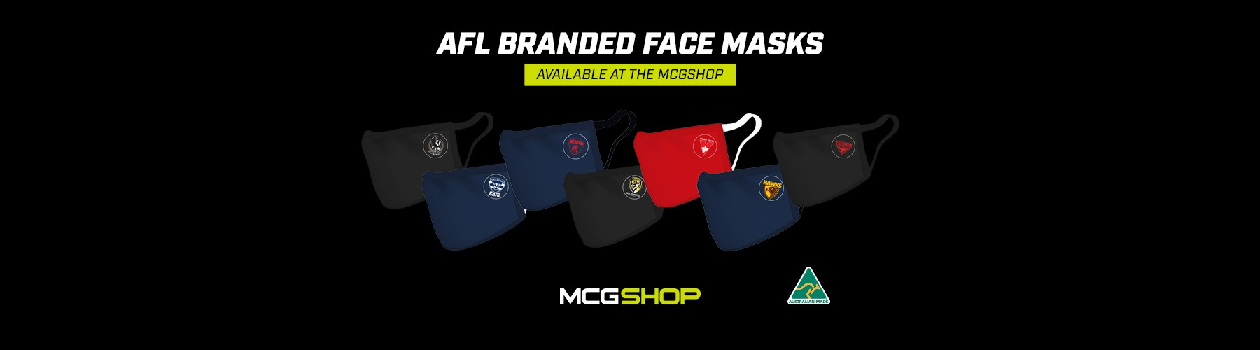 AFL branded face masks